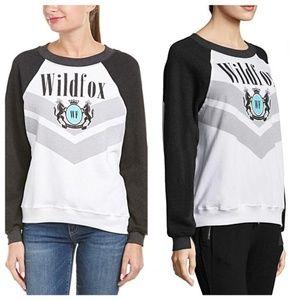 Wildfox Beverly Hills Academy White Black Sweater